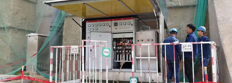 陕西咸阳机场高速-景观地埋箱变成功送电