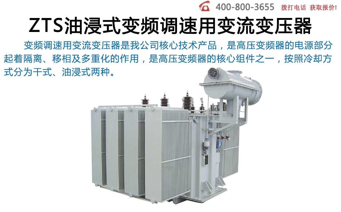 ZTS油浸式变频调速用变流变压器